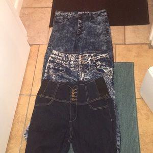 Bundle of high waist jeans 👖♥️♥️❤️size 13/14